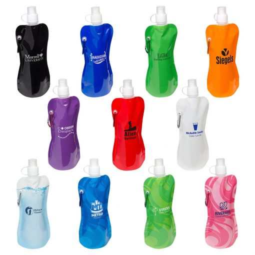 Flex Foldable 16 Oz. Water Bottle with Carabiner