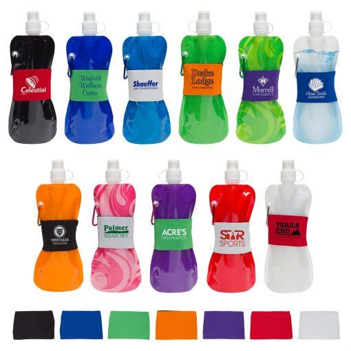 Comfort Grip Flex 16 oz Water Bottle with Neoprene Waist Sleeve
