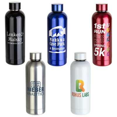 Sleek-Sip 17 oz Vacuum Insulated Stainless Steel Bottle