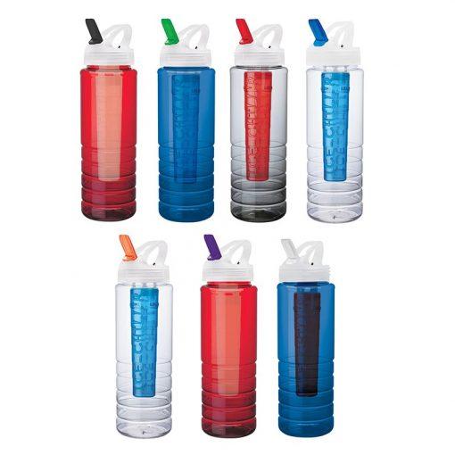 26 oz. PET Bottle with Flip Spout & Ice Stick