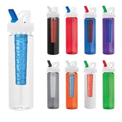Laguna 32 oz. PET Bottle with Flip Spout & Ice Stick