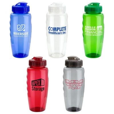 30 Oz. Relay PET Eco-Polyclear™ Bottle with Super Sipper Lid