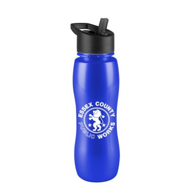 25 oz. Slim Grip Metallic Sports Bottle - Flip Straw Handle Lid