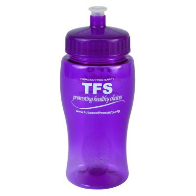 18 oz. Poly-Pure Junior Sports Bottle - Push Pull Lid