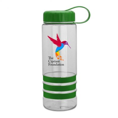 24 oz. DP Tritan™ Salute-2 Sports Bottle - Grip Stripes with Tethered Lid