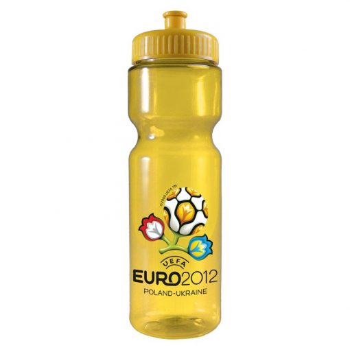 28 oz. Translucent Sports Bottle - Push Pull Lid - Digital Imprint