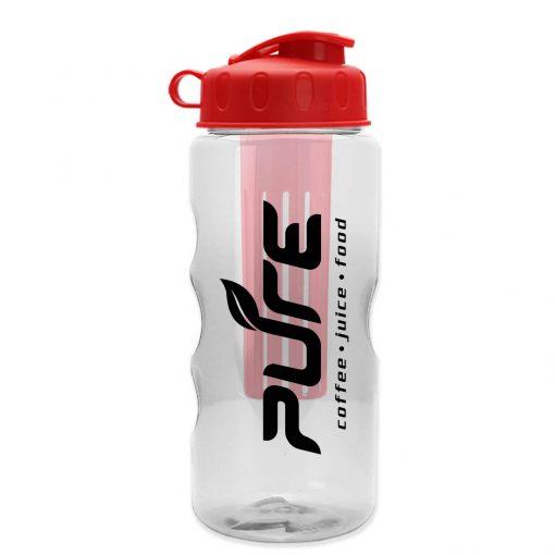 The Infuser - 22 oz. Tritan™ Transparent Sports Bottle - Infuser