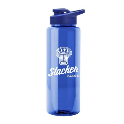 Guzzler 32 oz. Transparent Sports Bottle - Snap Lid