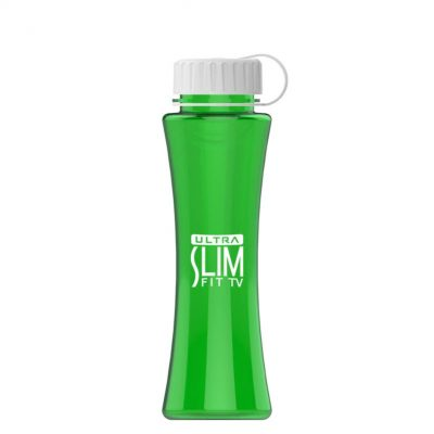 The Curve 17 oz. Tritan™ Sports Bottle - Tethered Lid