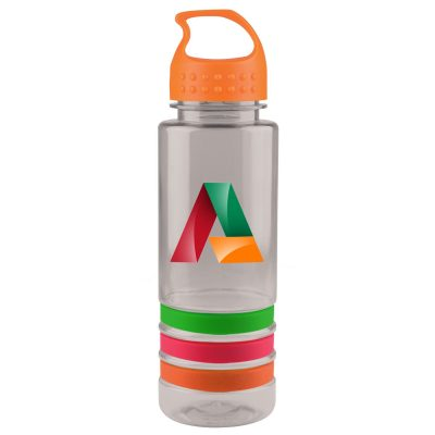 24 oz. Tritan™ Stripe Sports Bottle - Crest Lid - digital imprint