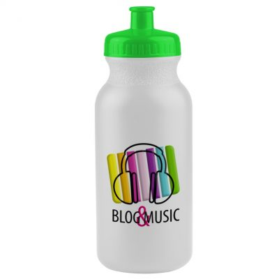 20 oz. Bike Bottle (White or Frost) - digital imprint