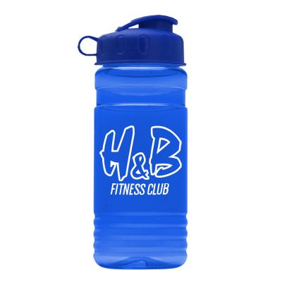 Big Grip 20 oz. Transparent Bottle - Flip Lid