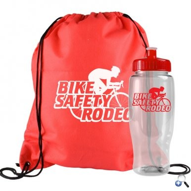 Non Woven Drawstring Backpack and Bottle