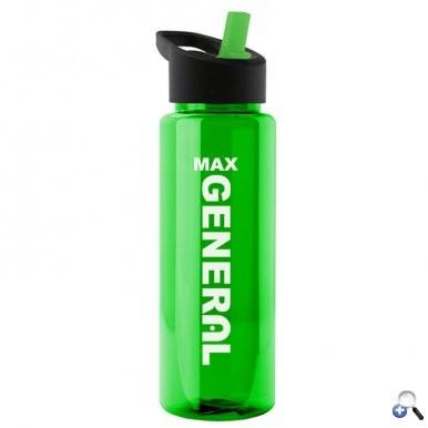 Guzzler 32 oz. Transparent Sports Bottle - Straw Handle Lid