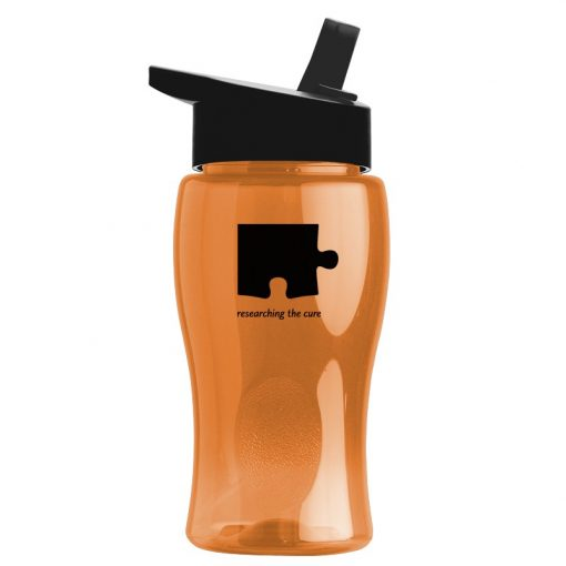 18 oz. Pure-Poly Junior Sports Bottle - Straw Handle Lid