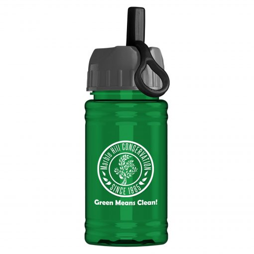 UpCycle - Mini 16 oz. rPet Sports Bottle with Ring Straw Lid