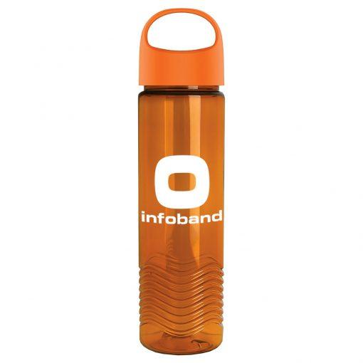 24oz Tritan Wave Bottle With Oval Crest Lid