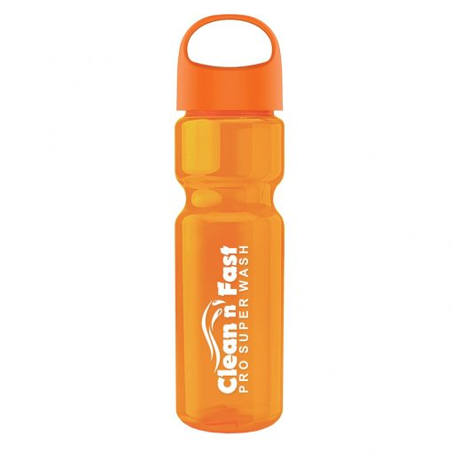 Champion - 28 oz. Transparent Bottle with Oval Crest Lid
