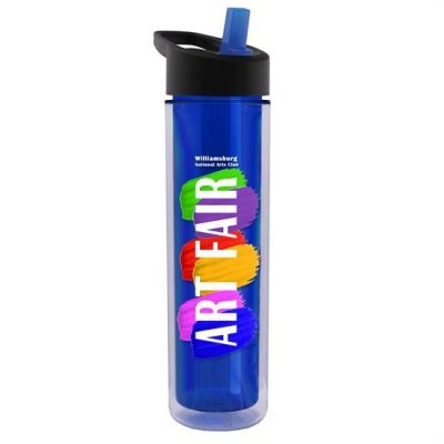 The Chiller 16 oz. Double Wall Insulated Bottle with Flip Straw Lid Digital