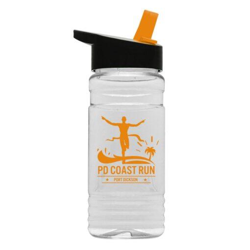 20 Oz. Clear Sports Bottle With Flip Straw Lid